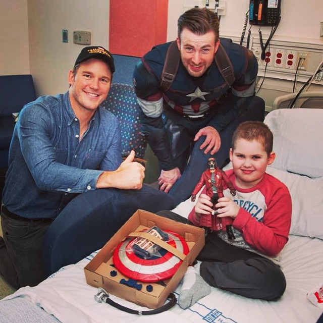 Captain America Seattle hospital for children