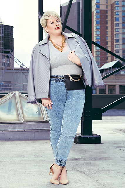 Full figured jeans style