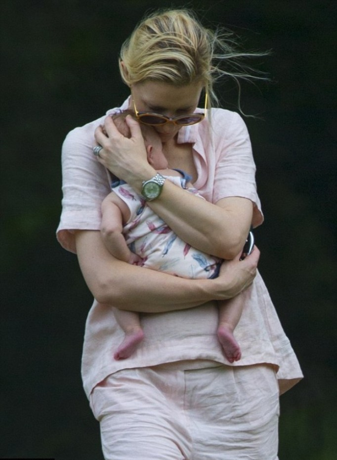 First photos of Cate Blanchetts adopted girl Edith