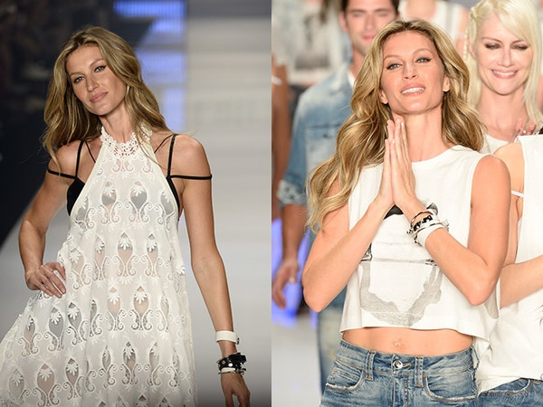 Gisele Bündchen last time on the runway
