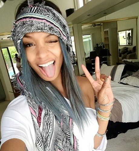 Jourdan Dunn blue hair
