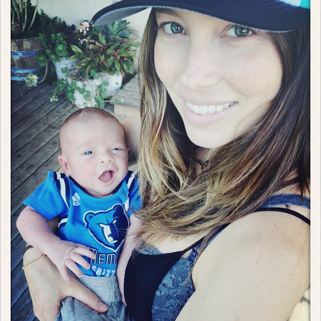 Justin Timberlake son Silas with his mom Jessica Biel