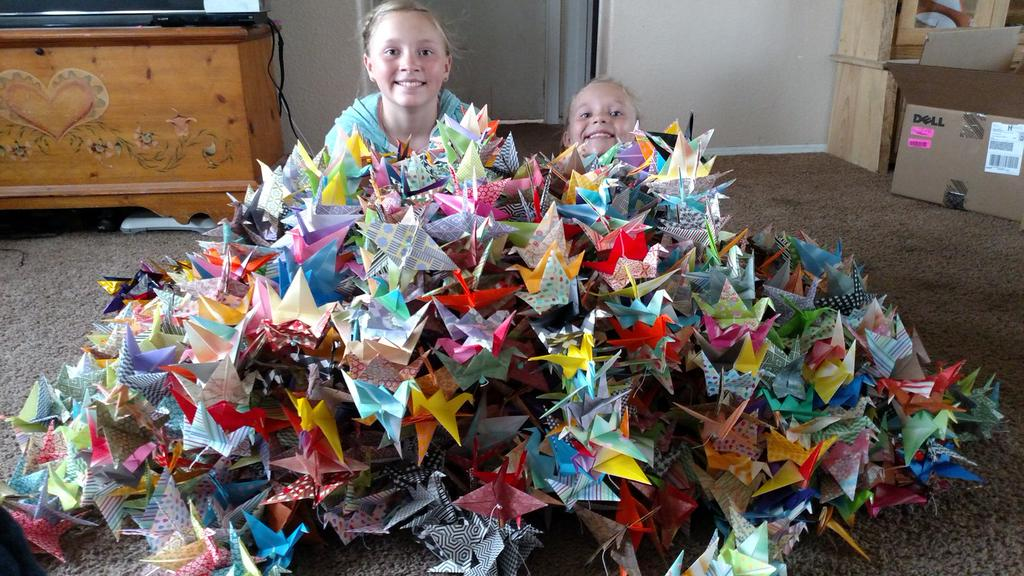 Taylor Swift's young fans made a thousand of paper cranes