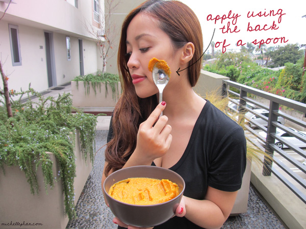 Homemade mask for oily skin main ingredient pumpkin