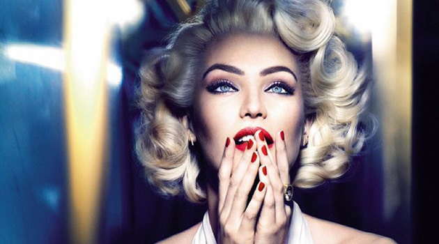 Candice Swanepoel wearing Marilyn Monroe makeup