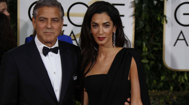George Clooney and his wife
