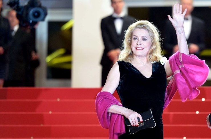 Catherine Deneuve Cannes 2015 Red Carpet