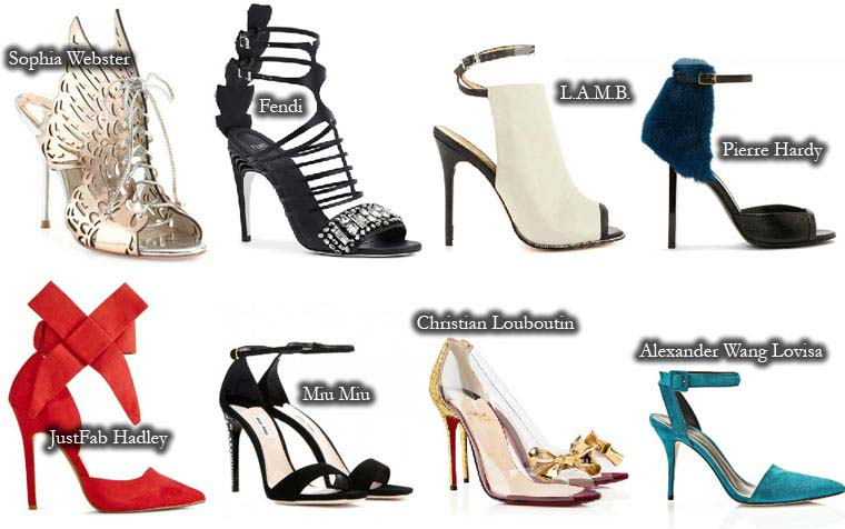 Summer 2015 stiletto heel sandals