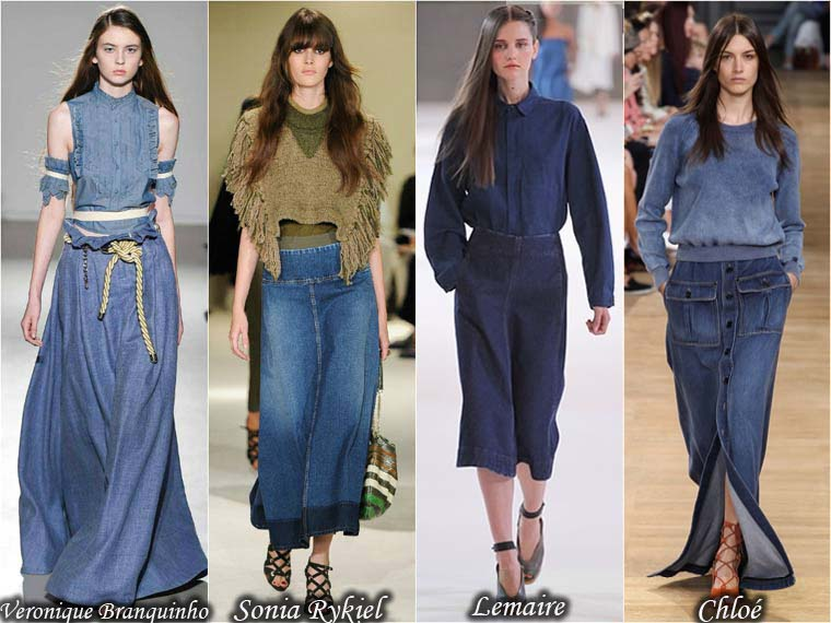 Summer 2015 denim skirts