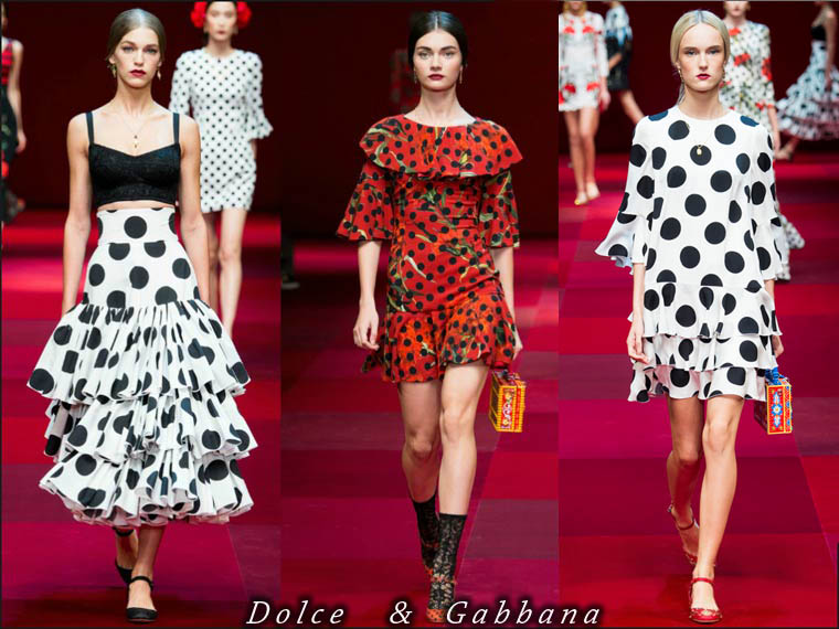 Summer 2015 polka dots clothing