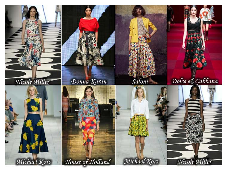 Summer 2015 trendy floral skirts