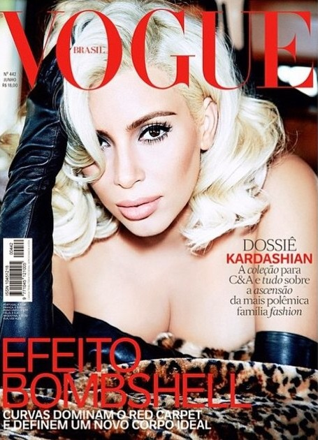 Kim Kardashian blonde June 2015 Vogue Brasil