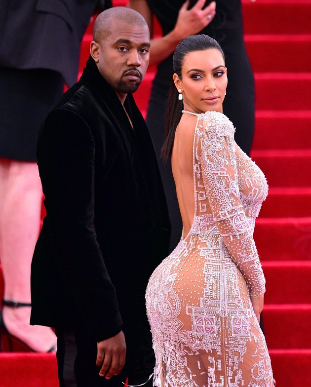 Kim Kardashian in Roberto Cavalli dress at Met Gala 2015