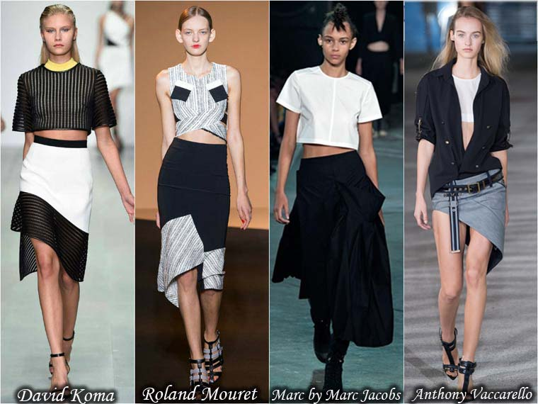 Summer 2015 asymmetric skirts