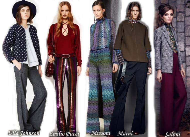 Fall 2015 fashion in the style of the 70's