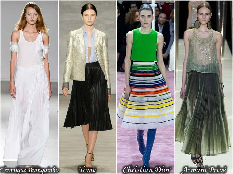 Pleated skirt 2015
