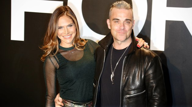 Robbie Williams and his wife