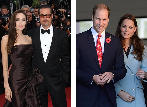 Angelina Jolie and Brad Pitt Prince William and Kate Middleton