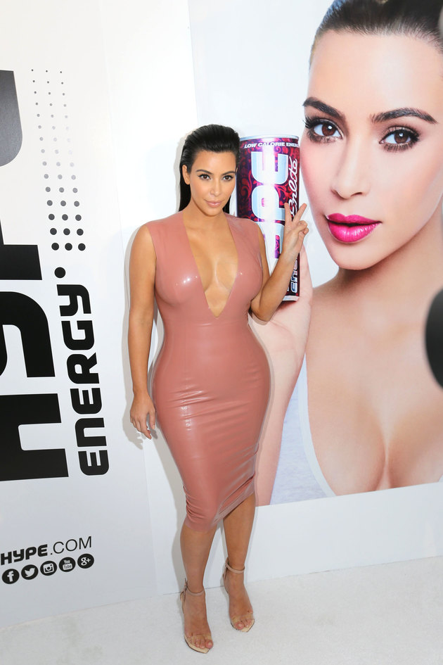 Kim Kardashian presentation of energetic drinks