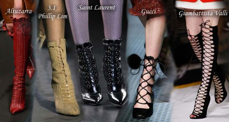 Fall-Winter 2015-2016 boots with shoelaces