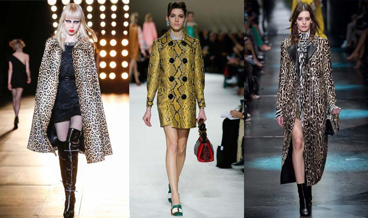 Animal print coat Fall-Winter 2015-2016