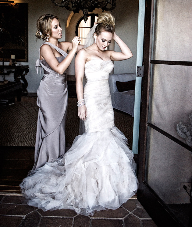 Hilary Duff celebrities wedding dress