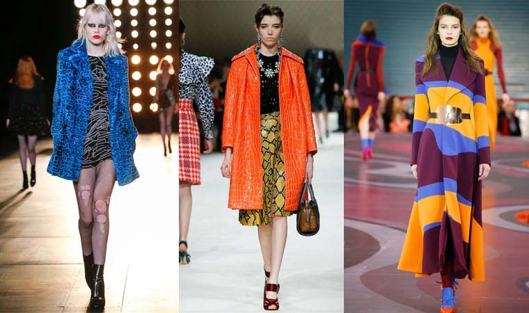 Bright color coat Fall 2015 Winter 2016