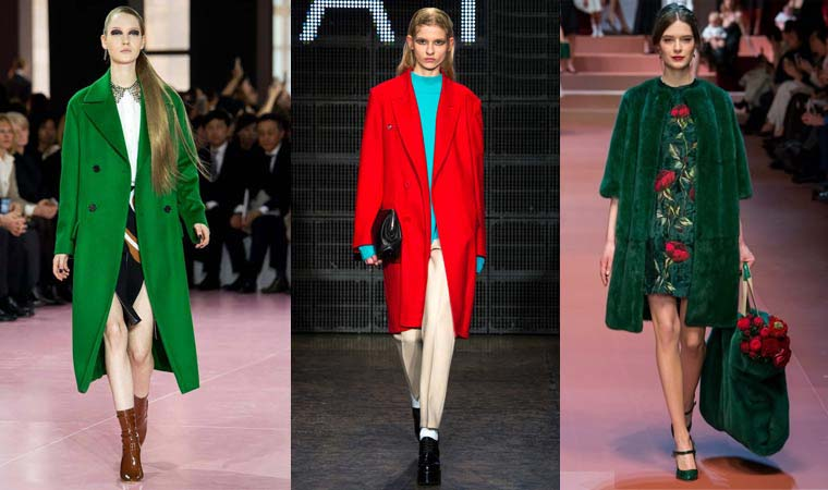 Coats for women in bright colors Fall-Winter 2015-2016 seasons