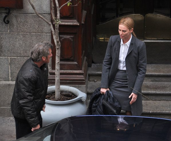 Charlize Theron and Sean Penn work together