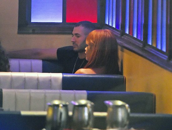 Rihanna and Karim Benzema breakfast in the cafe