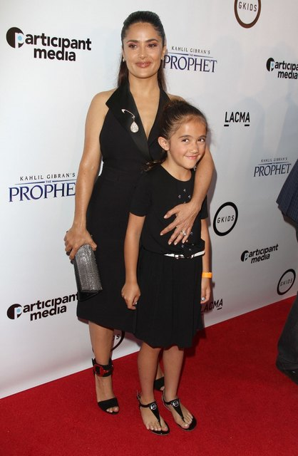 Salma Hayek daughter Valentina on the red carpet