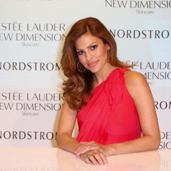 Eva Mendes at the presentation of the new line of the cosmetic brand Estée Lauder