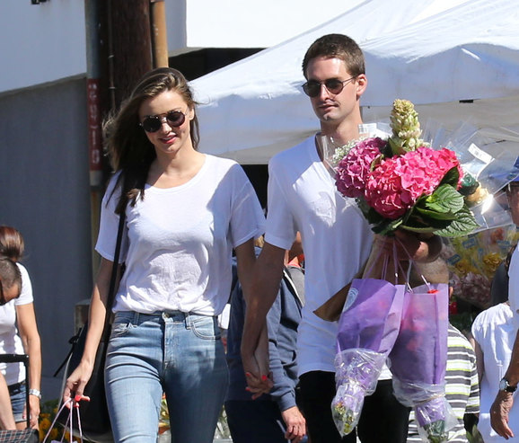 Miranda Kerr and Evan Spiegel romantic relationship