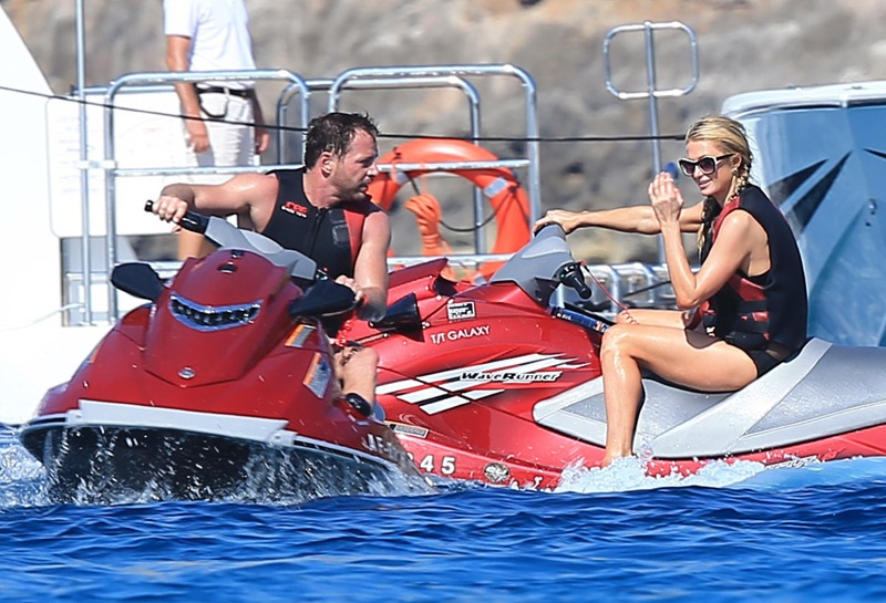 Swiss millionaire Thomas Gross have fun with Paris Hilton
