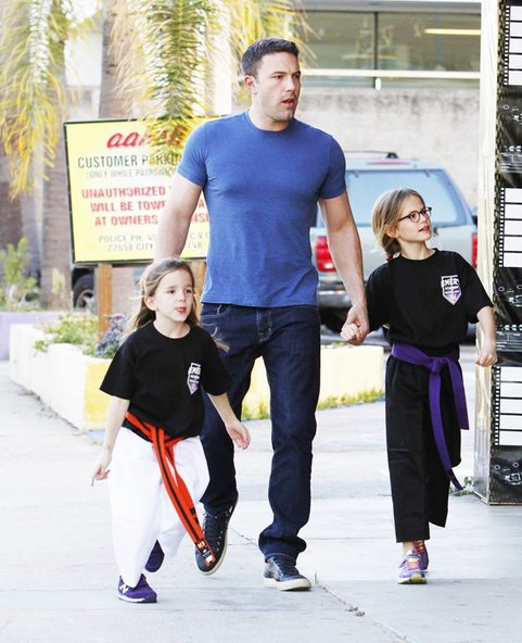 Ben Affleck daughters Violet and Seraphina