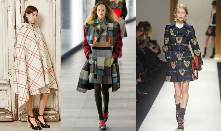 Womens plaid coat Fall 2015 Winter 2016