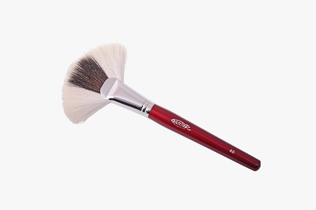 How to use fan powder brush