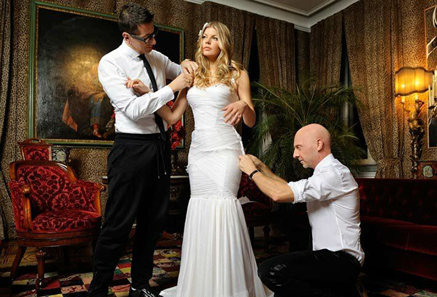 Fergie Celebrities Wedding Dresses
