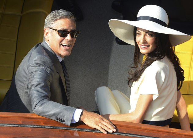 George Clooneys wife Amal Alamuddin started the career of an actor