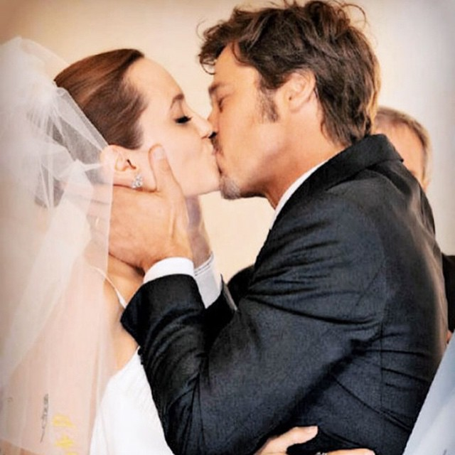 Angelina Jolie and Brad Pitt first wedding anniversary