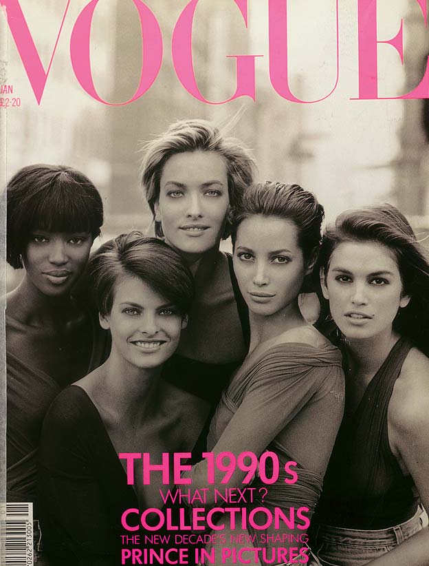 Peter Lindbergh Vogue cover from 1990