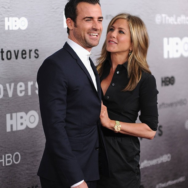Justin Theroux and Jennifer Aniston together