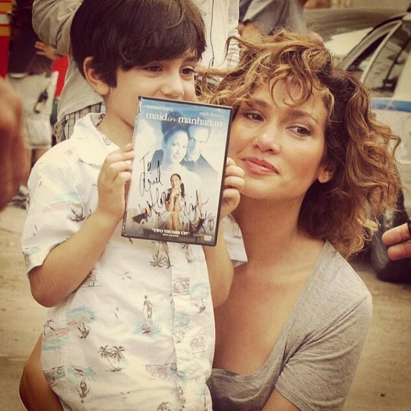 Jennifer Lopez with youngest fan