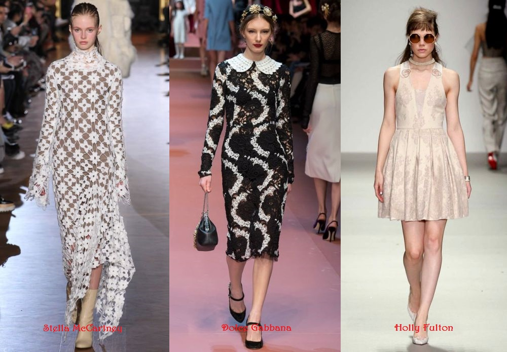 Lace Dresses Fall 2015 Winter 2016 type of lace