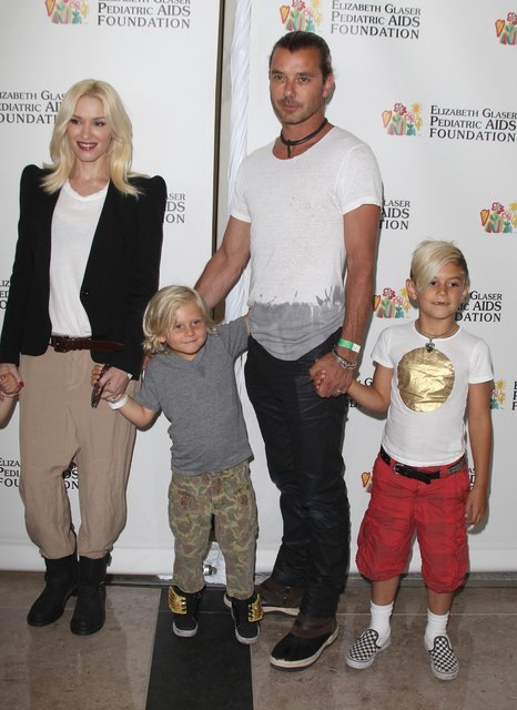 Gwen Stefani and Gavin Rossdale Kingston and Zuma