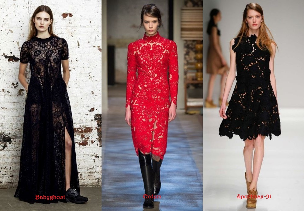Lace Dresses Fall Winter 2015 2016 in style