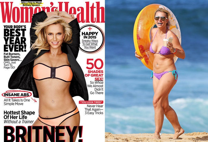 Britney Spears On the cover and in the real life