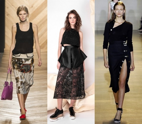 Black fashion skirts