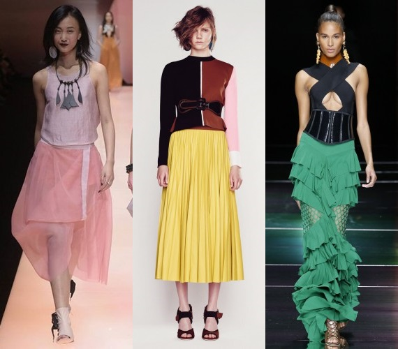What skirts are in style in Spring 2016