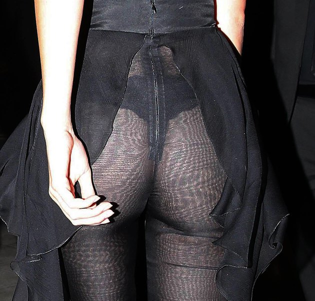 Kendall Jenner transparent pants
